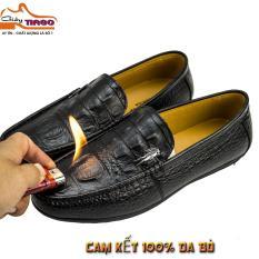 giày mọi nam da bò vân cá sấu (sale khủng)