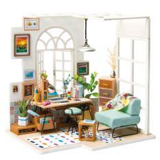 Mô hình nhà gỗ nhà búp bê Phòng khách SOHO Robotime Diyminiture