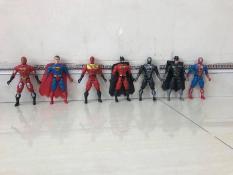 Bộ đồ chơi 7 siêu nhân anh hùng có khớp, do choi nhieu sieu nhan, sieu nhan mo hinh cam tay