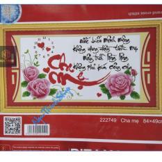 Tranh thêu chữ thập Cha mẹ DLH-222749-Ngọc Thịnh