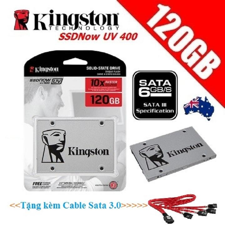 Ổ Cứng SSD 120Gb Kingston UV400 (Tặng Cable Sata 3)