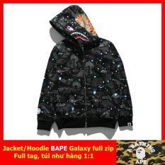 Áo khoác Bape Shark Galaxy Full zip, Áo hoodie Bape, Áo jacket Bape