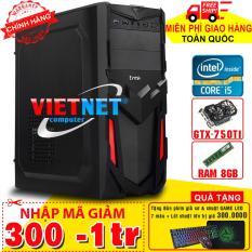Máy tính chơi game 52T1 2400 card GTX-750 8GB Hdd 250GB (chuyên game LOL, Fifa, Đột kích, minicraft)