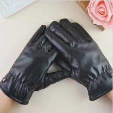 Găng tay da lót nỉ cảm ứng cho NỮ GTN002