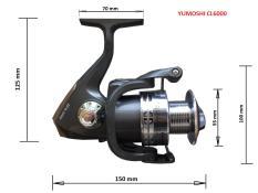 Máy câu cá YUMOSHI CL6000 – 12 BEARINGS