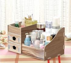Mstugo 215 – tủ gỗ đựng mỹ phẩm 3 tầng ,trang sức tiện dụng họa tiết vân gỗ