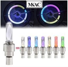Bộ 2 Nắp van khí bánh xe có đèn LED nhiều màu sắc – LZ MKAC