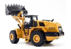 Mô hình xe xúc lật kim loại tỉ lệ 1:50 đồ chơi xe công trình