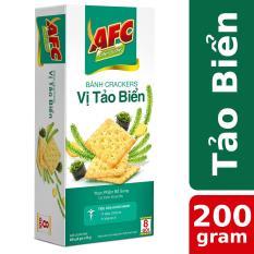 Bánh Cracker AFC Dinh Dưỡng Vị Tảo Biển 200g (8 gói)