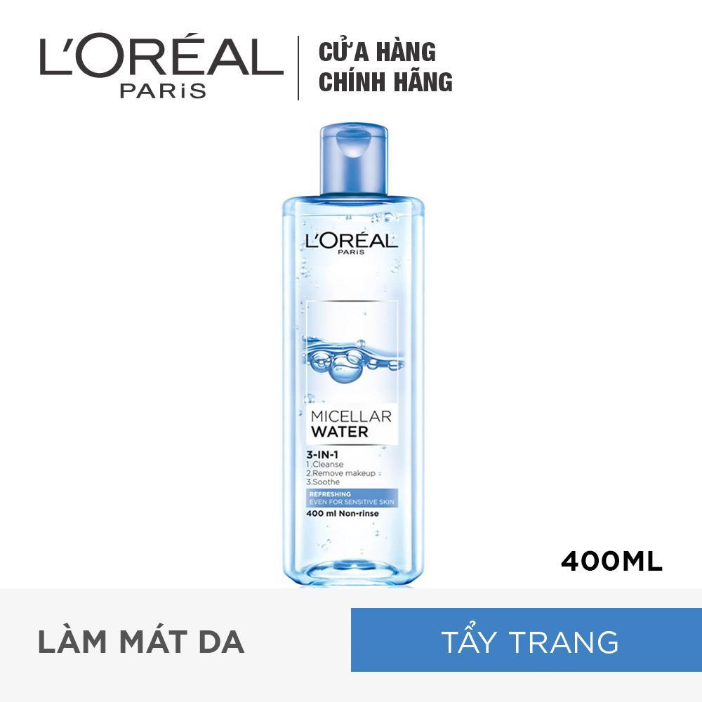 Nước tẩy trang tươi mát L'Oreal Paris Micellar Water 400ml