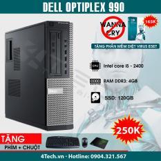 Máy Tính Đồng Bộ Dell Optiplex 990 Intel Core i5-2400, Ram 4GB, SSD 120GB – Mua 1 Tặng 10.