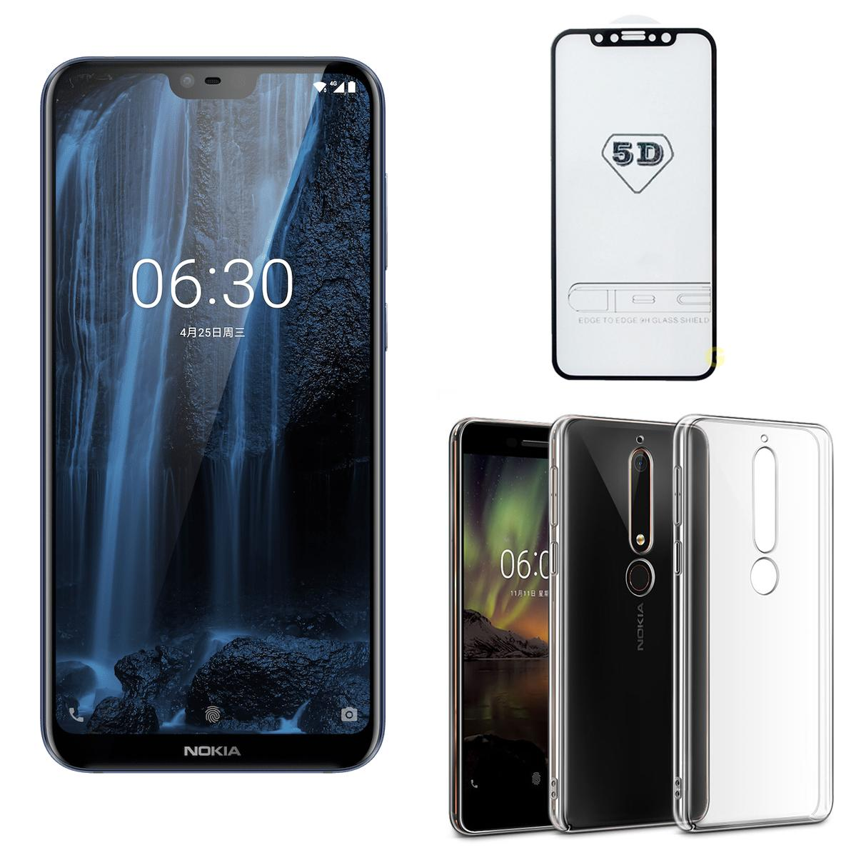 Nokia X6 64GB Ram 6GB (Đen) - ShopOnline24 + Cường lực 5D Full màn + Ốp lưng - Hàng nhập...