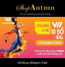 10 số 4G siêu rẻ – Thánh sim 4G Vietnamobile – FREE 4Gb/ngày Đang Bán Tại Shop Autumn