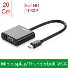 Minidisplayport – Thunderbolt ra VGA/D-SUB 15PIN, chuyển tín hiệu từ Macbook/Imac/Mini Mac/Surface/Think pad ra màn hình LCD, Máy chiếu VGA 20CmUGREEN 10459 (màu đen)