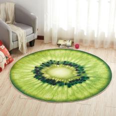 Thảm tròn 3D Trái cây (chọn mẫu) 2 lớp chống trượt 60cm KamiHome