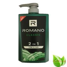 Tắm Gội 2in1 Romano Classic Cao cấp 650ml