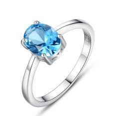 Nhẫn Bạc Nữ Nhẫn Bạc Đính Đá Topaz Xanh N1449 Bảo Ngọc Jewelry