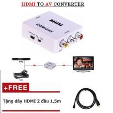 HDMI to AV Tặng thêm cáp HDMI 1,5m (đen)