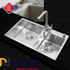 Chậu Rửa Chén Bát INOX 304 N7 NA.GRAND Tặng Rổ Đa Năng và Bộ Xả Chậu