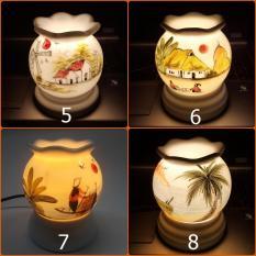 Đèn xông tinh dầu sứ Bát Tràng (Chọn mẫu) kiêm đèn ngủ KamiHome Chống muỗi Diệt muỗi