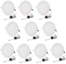 Bộ 10 đèn Led âm trần siêu mỏng 6w (Ánh sáng trắng)