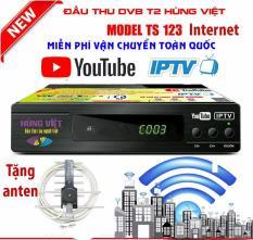 Đầu thu DVB T2 TS123 Internet (xem youtube tặng anten thông minh)