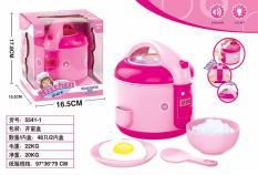 (KÈM PIN) Đồ chơi mô hình nồi cơm điện dùng pin có nhạc, phát sáng siêu đẹp, thiết kế giống thật 100% màu hồng dành cho bé gái hàng cao cấp, Do choi noi com, Do choi nau an, Bộ đồ chơi nhà bếp, nấu ăn, DO CHOI NOI COM