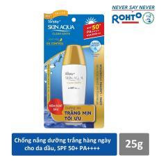 Sữa chống nắng hằng ngày dưỡng trắng Sunplay Skin Aqua Clear White SPF 50+, PA++++ 25g