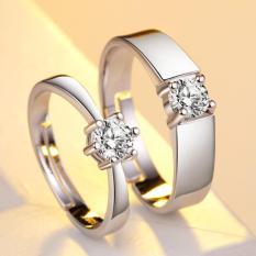 Nhẫn cặp kim cương nhân tạo lấp lánh tình yêu lãng mạn SPR-JZ090 + TẶNG KÈM HỘP XINH XẮN