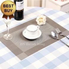 Bộ 4 tấm khăn lót bàn ăn (Màu xám)