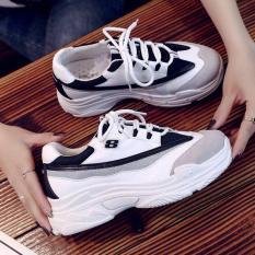 giày số 8 trắng đen