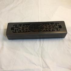 Hộp đựng đũa gỗ trắc đen