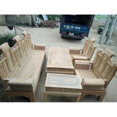 Bộ bàn ghế âu á kiểu cuốn thư tay hộp bộ 2m2 và bộ 2m4 gỗ lim