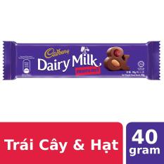 Sô Cô La Trái Cây & Hạt Cadbury Dairy Milk 40g