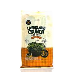 Rong biển HQ Laverland Crunch Vị Nước Tương 13.5g ( 3gói * 4,5g)