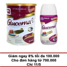 Bộ lon sữa bột Glucerna Hương Vani 850g + Chai nước Glucerna 220ml