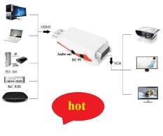 Đầu Chuyển HDMI to VGA + Audio có hỗ trợ nguồn cao cấp