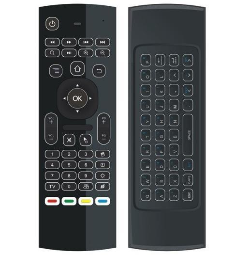 Chuột bay kiêm bàn phím KM800 PRO có đèn LED cho Android TV Box, Laptop, Smart Tivi