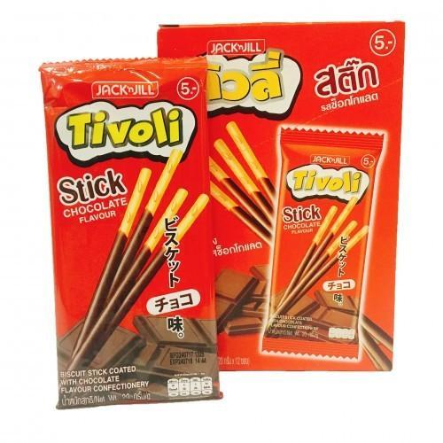 Hộp 12 gói bánh que socola Tivoli Thái Lan