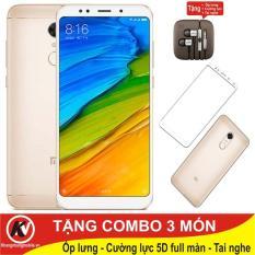 Xiaomi Redmi 5 Plus, Redmi5 Plus, Redmi5Plus – 32GB Ram 3GB Kim Nhung + Ốp lưng + Tai nghe + Cường lực full màn hình 5D