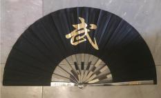 Thiết phiến tập võ – quạt sắt kungfu (màu đen)