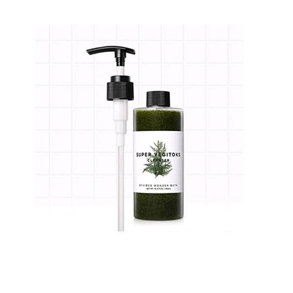 Sữa Rửa Mặt Rau Củ 3 in 1 Tẩy Trang – Rửa Mặt – Thải Độc Tố Byvibes Wonder Bath Super Vegitoks Cleanser 300ml