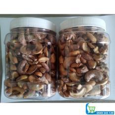 1kg hạt điều rang muối vỏ lụa (loại vỡ)