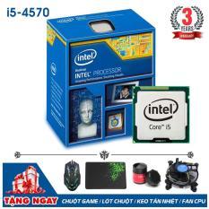 Bộ vi xử lý Intel CPU Core I5 4570 3.6Ghz (4 lõi, 4 luồng) + Quà Tặng – Bảo hành 3 năm – Hàng Nhập Khẩu