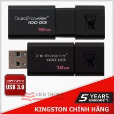 USB 3.0 Kingston DT100G3 16GB (Đen) + Tặng viết bi