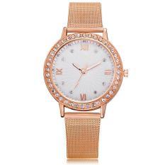 Đồng hồ nữ GENEVA GE235 mặt đính đá cao cấp + Tặng kèm vòng đeo tay