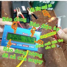 Thiết bị kiểm tra acquy -Công suất pin mặt trời -Đồng hồ đo công suất điện DC 0-60V và 0-100A