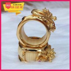 Nhẫn lông voi bọc bạc Thái Mạ vàng 24k