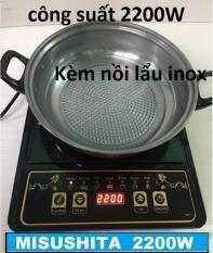 BẾP ĐIỆN TỪ THAILAND MS-1110(tặng kèm nồi lẩu đa năng) 2200w