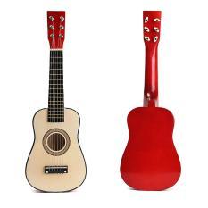 """【Flash Deal】Đàn Ghi-tả Gỗ Acoustic 6 Dây 23 """"Màu Đỏ Cho Trẻ Em Người Mới Bắt Đầu Luyện tập-Quốc tế"""